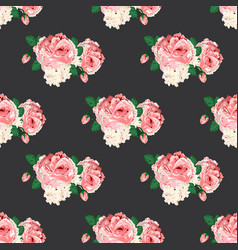 seamless pattern with roses for design vector image