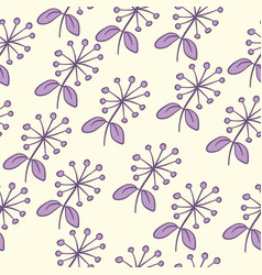 Seamless purple flower pattern vector