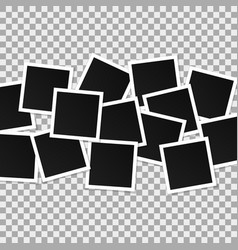 set of square photo frames collage of vector image vector image