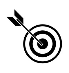 Target arrow strategy market pictogram vector