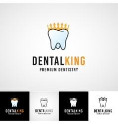 Teethcare logo template dental icon set dentist vector image vector image