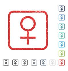 Venus female symbol icon rubber watermark vector