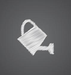 watering can sketch logo doodle icon vector image vector image