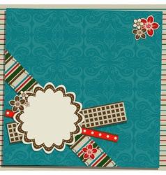 scrapbook greeting card vector image