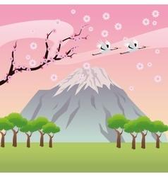 landscape japan culture design vector image