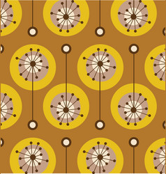 Vintage colorful flower pattern vector