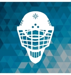 Helmet hockey accessory blue abstract background vector
