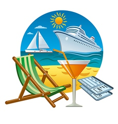 Sea travel concept vector