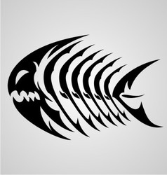 Monster fish tribal vector