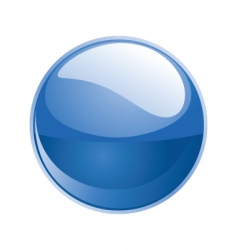shiny sphere 02 blue vector image