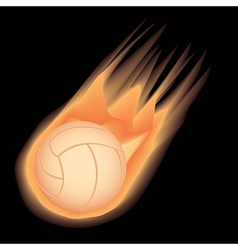 Volleyball-fire vector