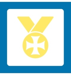 Maltese medal icon from award buttons overcolor vector