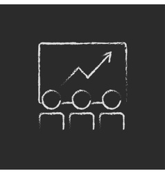 Business growth icon drawn in chalk vector