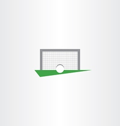 Football soccer icon goal net vector