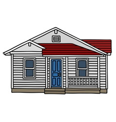 White wooden small house vector