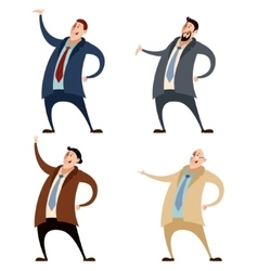 Set of businessman vector