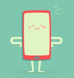 Happy smartphone smiling vector