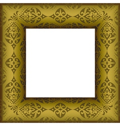 old beautiful ornated golden antique frame vector image