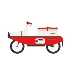 Retro motorbike isolated vector