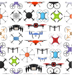 air drone color drone background pattern vector image