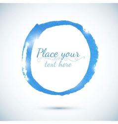 Blue paint circle template for your text vector image vector image