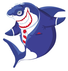 bussines shark vector image vector image