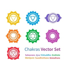Chakras set vector
