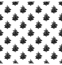 Christmas tree pattern seamless vector