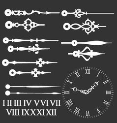 clock face with variations of clock hands vector image