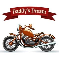 Colored retro motorcycle design vector image