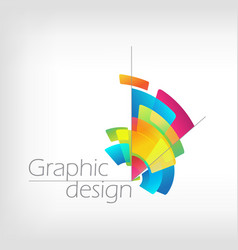 Concept symbol graphic design colorful pencil vector