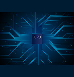 Cpu hi-tech technology information communication vector