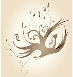 Decorative frame with gold curls in the form of a vector