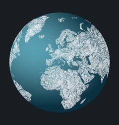Earth Sketch vector image vector image