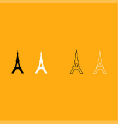eiffel tower it is white icon vector image
