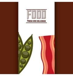 Food menu fresh icon vector