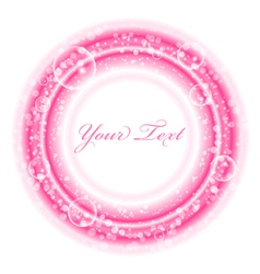 Frame with pink bubbles vector