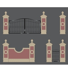 Garden gate vector
