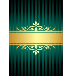 gold and turquoise background vector image vector image