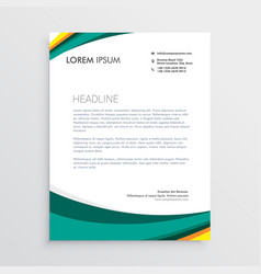 Green visual identity letterhead design template vector