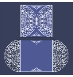 Laser cut card template vector image vector image