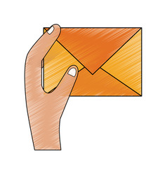 mail envelope symbol vector image vector image