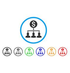 money recipients rounded icon vector image vector image