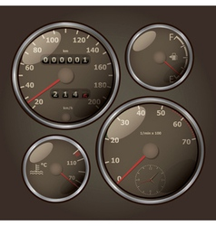 old look speedometers vector image vector image