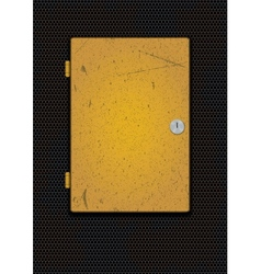 Old metallic box vector image
