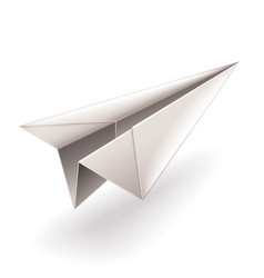 Paper airplane isolated on white vector
