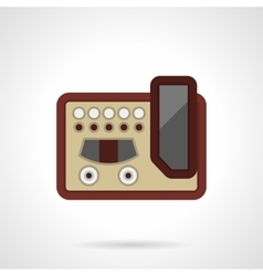 Professional guitar processor flat icon vector