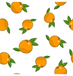 Seamless pattern of grapefruit vector