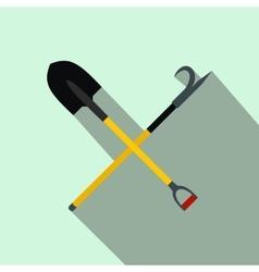Shovel and scrap flat icon vector