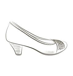 Sketch of women shoe - vector image vector image
